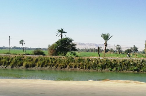 Road to Luxor, Egypt, 1