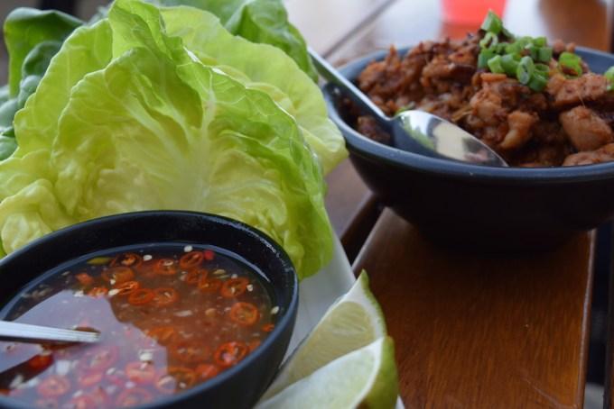bashi lettuce wraps at Terranea Resort
