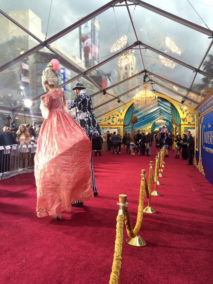Cinderella World Premiere stilt walkers