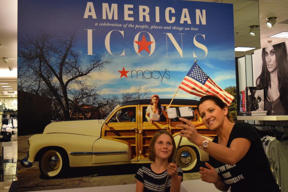 American Selfie at Macys