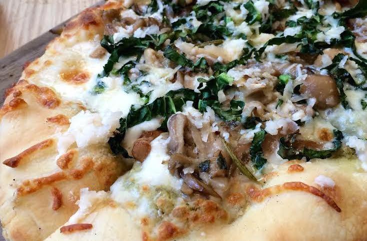 Ford's Filling Station Winter Mushroom Flatbread Pizza