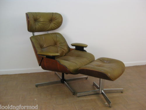 selig eames chair cane barrel vintage furniture real or fake lounge ottoman the this copy has a four legged flat legs armrests and smaller