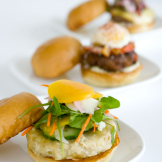 Richard's FLIP Burger Boutique is a modern burger boutique featuring a menu that redefines what we've come to think a hamburger should be. In a modern space FLIP incorporates elements of fine dining with a creative, raw energy.