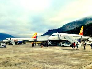 druk air bhutan airport