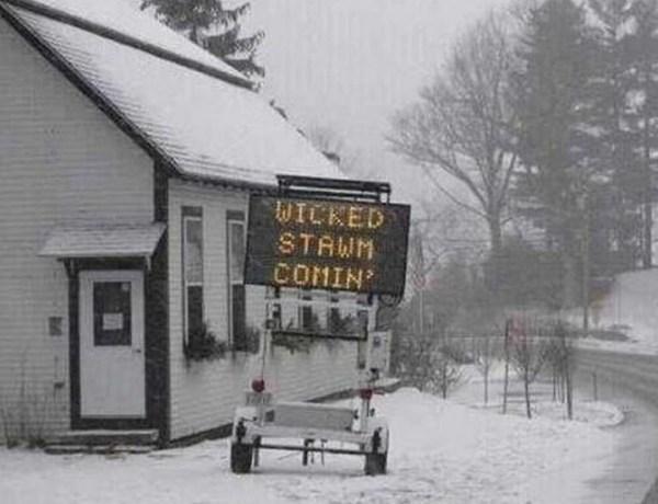 storm blizzard winter