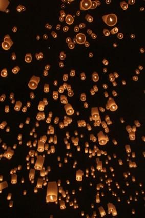 Lantern festival in Chaing Mai, Thailand