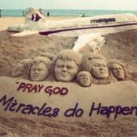 @christinebelleofficial on Instagram: Thx to that young man for creating such an incredible work of it just to remind us not to forget to pray for #mh370