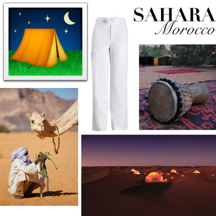 Travel Like Emoji Sahara, Morocco