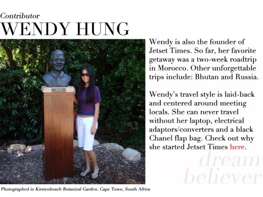 Wendy Hung contributor profile Cape Town