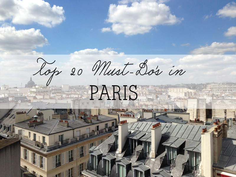 featured must do paris