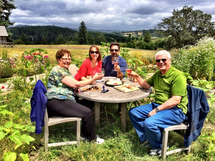 Soter Winery Oregon picnic lunch