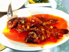 Spicy & sour fish, Chinese-style