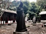 Statues of ancient scholars, writers and poets in Wugong Temple