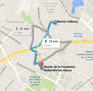 map Musée de la Fondation Abderrahman Slaoui Casablanca Morocco