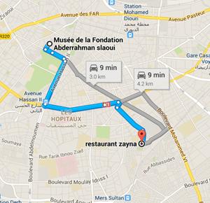 map zayna restaurant casablanca morocco