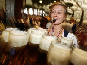 More than 1,600 waitresses serve food and beer during Oktoberfest, often earning as much as 14,000€ ($19,000) for the entirety of the 16 day event! In order to work at Oktobefest, you need to apply a year in advance and know at least some rudimentary German to qualify.