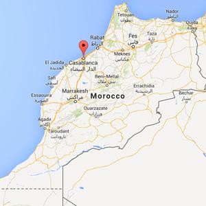 map Casablanca, Morocco