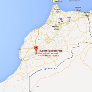map toubkal morocco