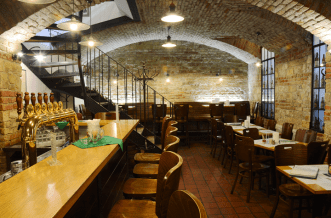 Pivovarsky Klub is where you can have hundreds of beers to choose from. There are at least 240 kinds of beer in bottles and 6 beers on tap. They open 'til late at night and serve traditional Czech cuisine including various kinds of meat: kangaroo and ostrich. MAP