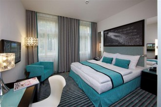Prague 5: Red and Blue Design Hotel is a 1900s building completely refurbished to a modern and stylish 4-star hotel. It's a 10-minute walk from Charles Bridge. (Reserve) MAP