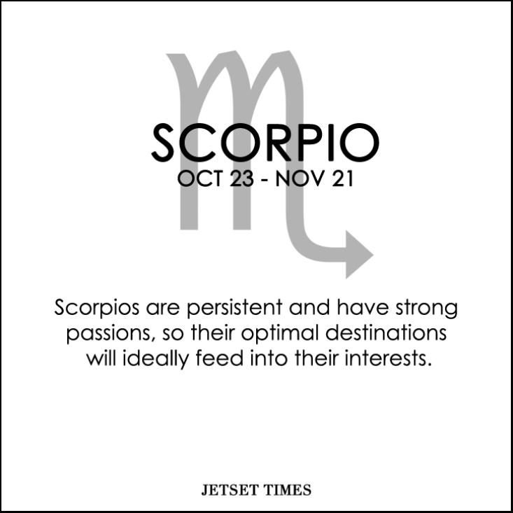 Travel Horoscope Scorpio