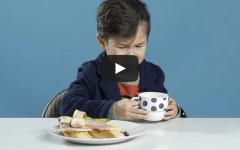 American kids eat breakfast foods