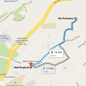 map dar ramouna fez morocco