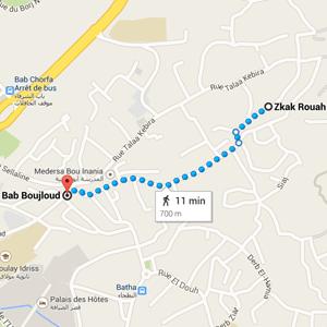 map restaurant numero 7 fez morocco