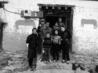 Family portrait with local Bhutanese family