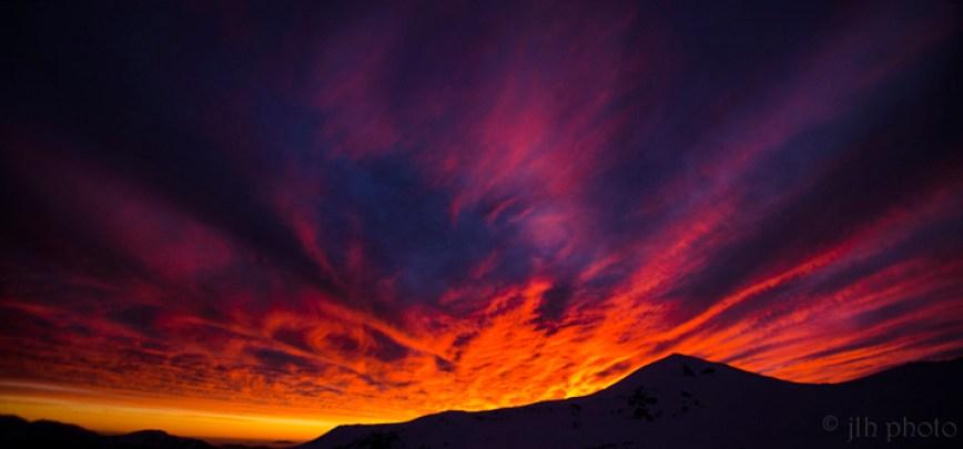 Jose Hidalgo via Flickr Chile Sunset from Valle Nevado Ski Resort