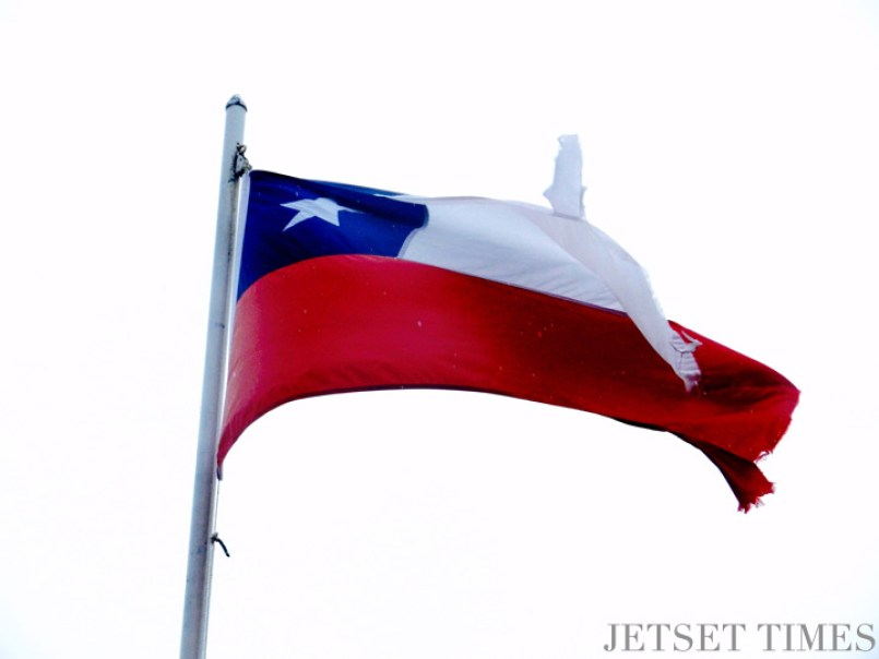 11 Chilean flag Puerto Toro Chile