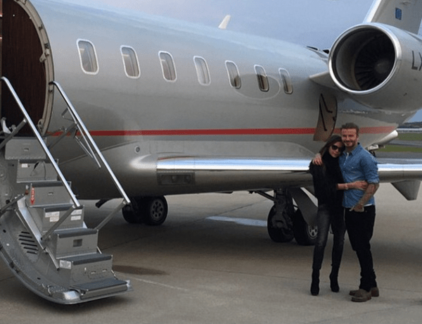 Victoria Beckham David plane