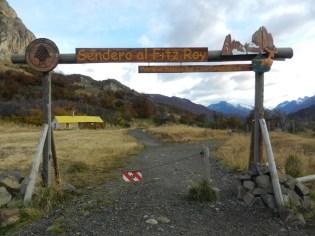 Start of Fitz Roy (Lago de los Tres) Trek