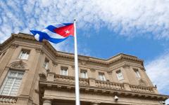 Cuban flag embassy USA