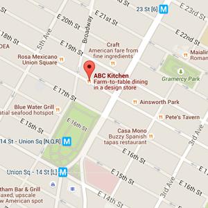 map abc kitchen nyc restaurant