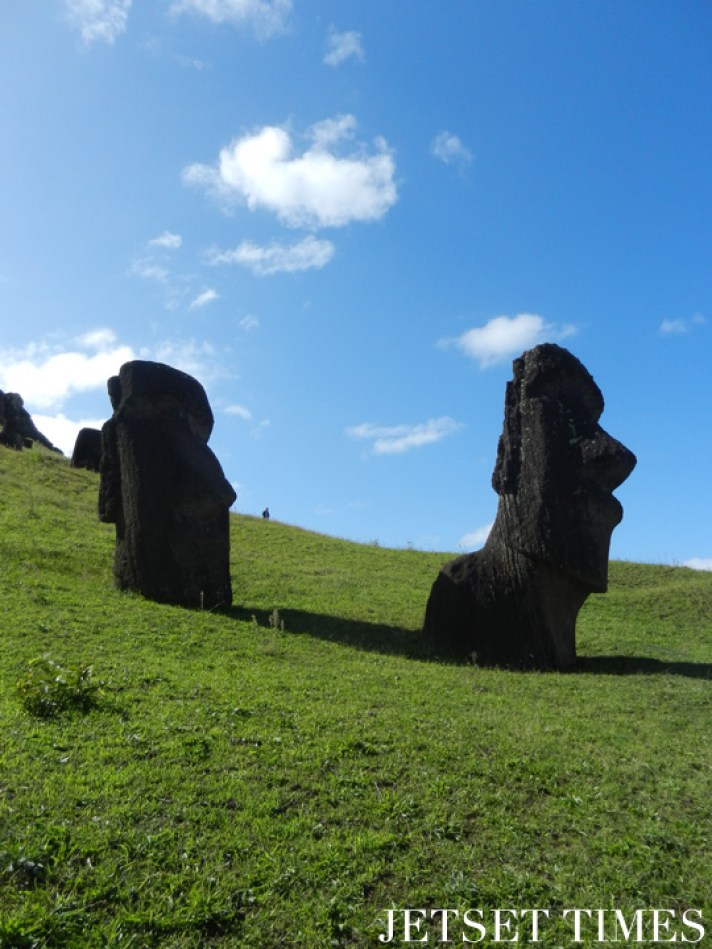 9 Two moai statues at Rano Raraku, Easter Island