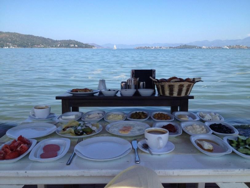 Muğla Province Turkey paragliding food view