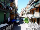 A tranquil walk down a typical Manarola street
