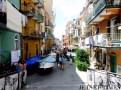 Busy street in Manarola