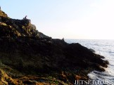 Sitting seaside admiring the Ligurian Riviera