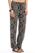 $20, Blue Plate Fashion, Women's Black and Yellow Abstract Boho Theme Printed Pant. Shop