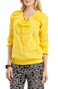 $20, Blue Plate Fashion, Women's Yellow Long Sleeve Embroidered Top. Shop