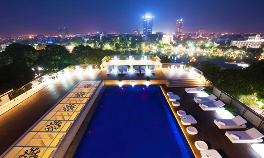 Facebook Apricot Hotel Hanoi Vietnam rooftop pool