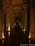 14. The Basilica Cistern, the underground water supply of the Roman Empire.