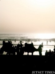 Sunset on the beach of Mehdia (Kenitra, Morocco)