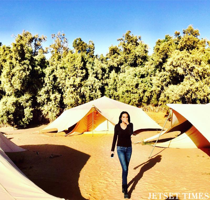 Tunisia desert tent hotel