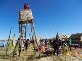 More than 500 years ago, the Uros used watchtowers similar to these to warn their people when warring tribes, like the Incas, were approaching. Today, it seems scoping out the scene for the latest Insta post is its primary purpose now.