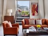 Luxurious suites have open-air terraces.