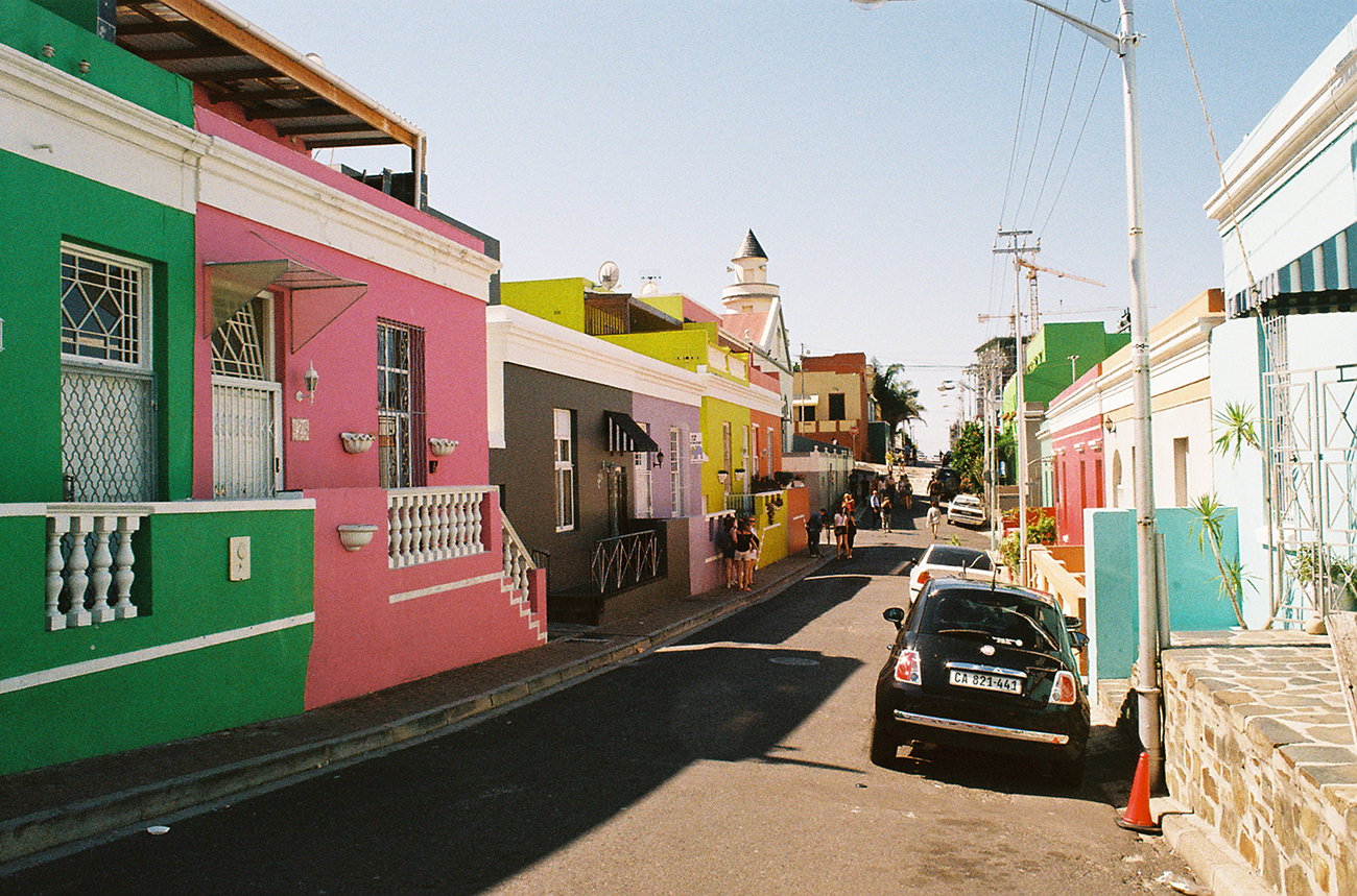 Bo Kaap street corner in Cape Town, South Africa.