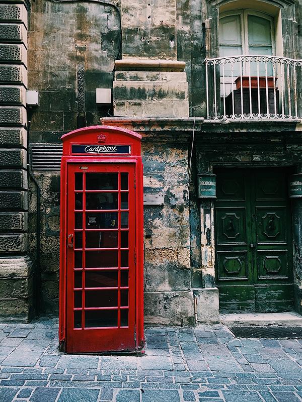 Phone booth, Valletta Malta